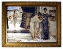6981 Art Deco Painting in Large Gilt Frame