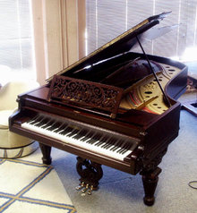 79.2412 Chickering Antique Parlor Grand Piano