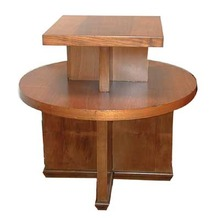 20.185 Art Deco Two Tier Walnut Table