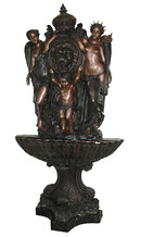 85.5243 Bronze Lion Wall Fountain w/Standing Ladies.