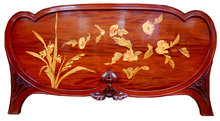 53.4615 Inlaid Art Nouveau Footboard/Headboard by Galle