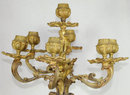64.376 Pair of Ornate French Doré Bronze Candelabras