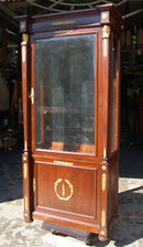 7010 Late 19th C. French Empire Vitrine with Bronze Trim