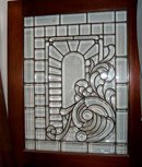 66.333 Original Cherrywood Doors w/Leaded and Beveled Glass