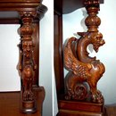 23.7201 Antique American Victorian Oak Sideboard