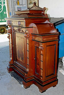 28.2697 Antique Rosewood Renaissance Revival Marquetry Cabinet