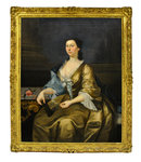 7211 19th C. Oil on Canvas Portrait of a Lady