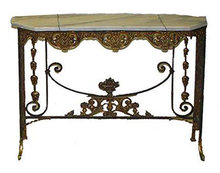 54.7209 Antique 19th C. Console Table by Oscar Bach