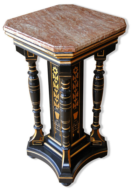 69.335 Antique Victorian Marble Top Pedestal