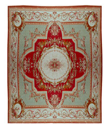 87.4751 19th C. French Aubusson Palace Rug