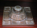 82.477A 19th C. Bronze Tiffany Zodiac Inkwell