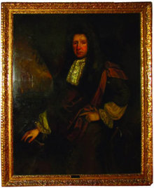 77.7358 17th C. Oil on Canvas Portrait of Sir John Morden