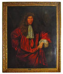 77.7358a 17th C. Oil on Canvas Portrait of Nathaniel Brand