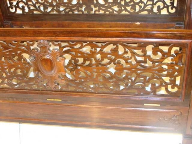 7270 Antique Victorian Rosewood Baby Crib by Alexander Roux