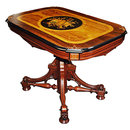 13.267 Antique 19th C. American Renaissance Revival Inlaid Center Table
