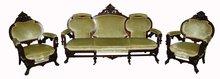 7396 Antique 3-Pc. American Renaissance Inlaid Parlor Set by Herter Bros.