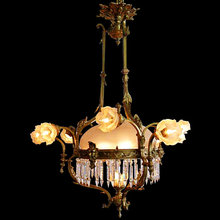 673 19th C. Bronze Chandelier