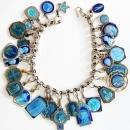 Religious Vintage Sterling Silver Charm Bracelet with 32 Rare Pristine Religious Medals Enameled on Both Sides