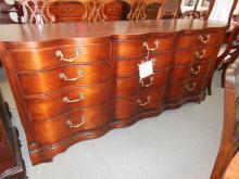 Mahogany triple dresser
