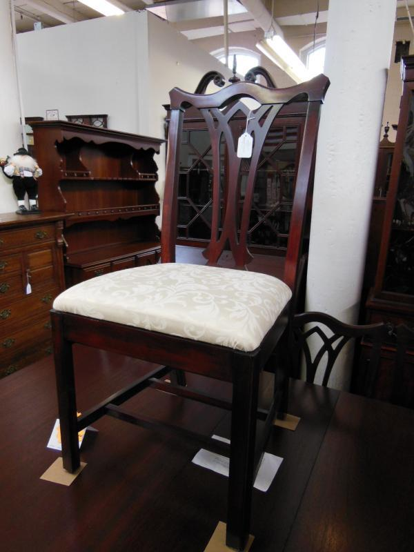 Set of 10 chippendale style chairs