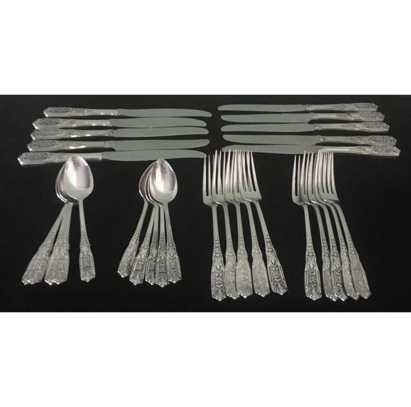 Vintage Sterling Silver Westmorland Flatware - Set of 30