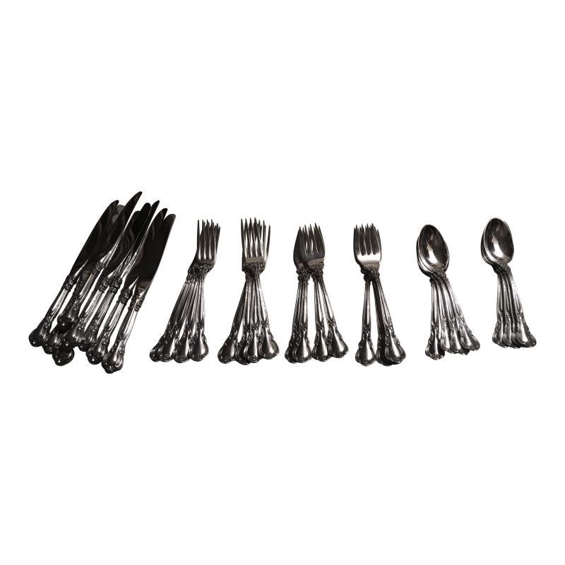 Gorham Chantilly Pattern Sterling Silver Flatware - Service for 8