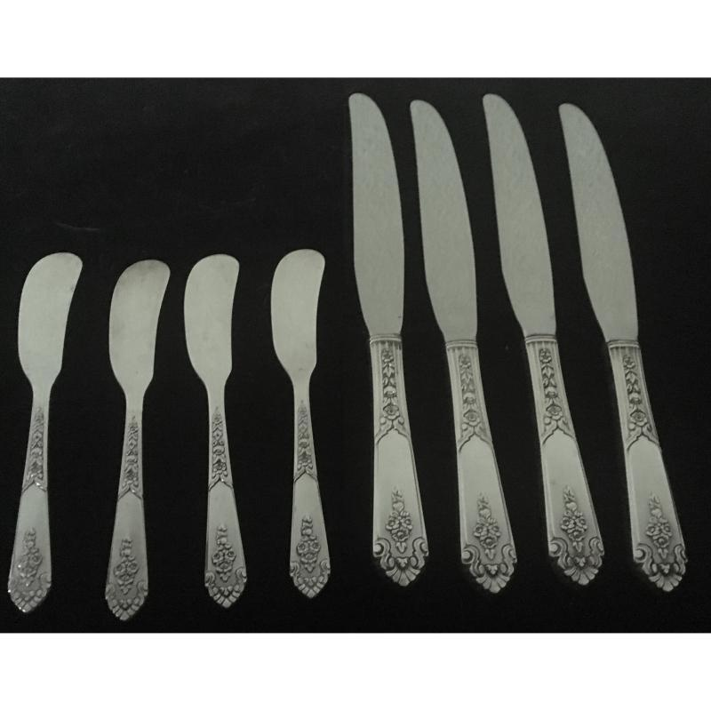 Royal Crest 'Promise Pattern' Sterling Silver Flatware - Set of 24