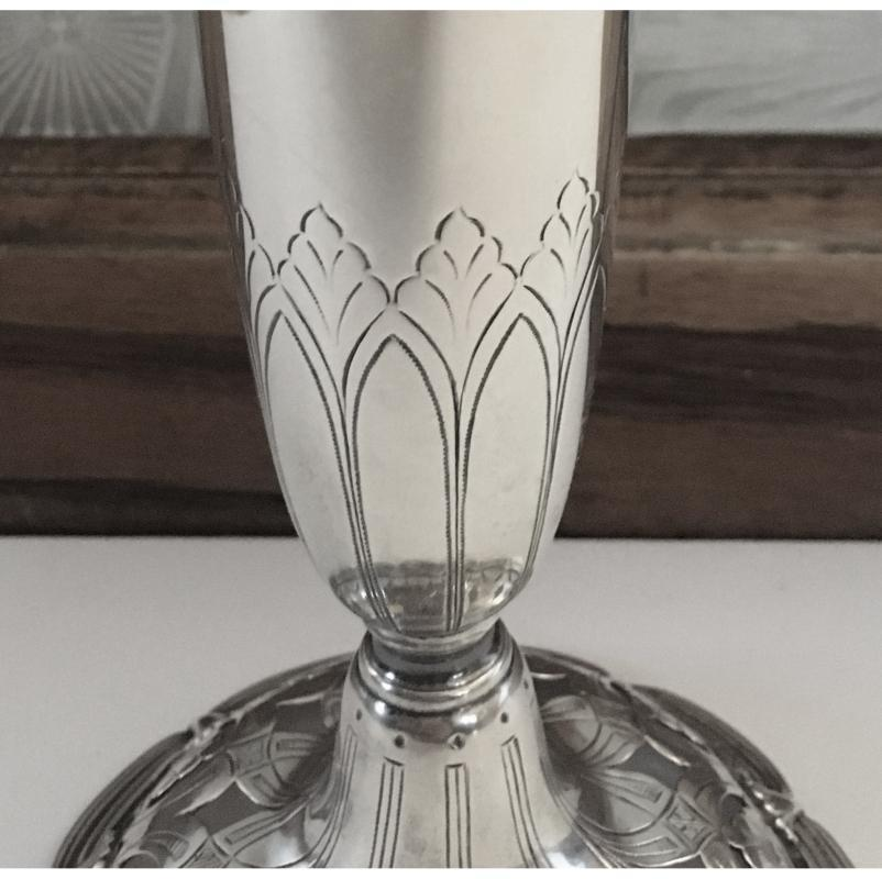 Antique Tiffany & Co Sterling Silver Trumpet Vase