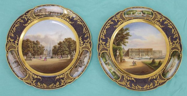 Pair of Scenic Painted Plates