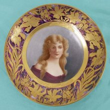 Painted Portrait Plate