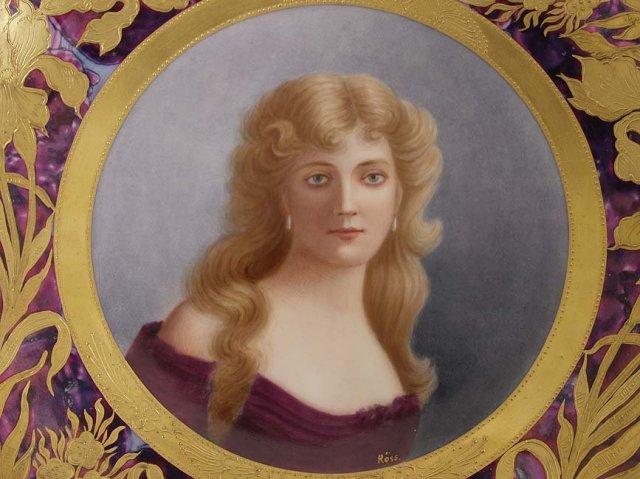 Painted Portrait Plate