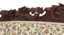 Rosewood bird carved Victorian sofa