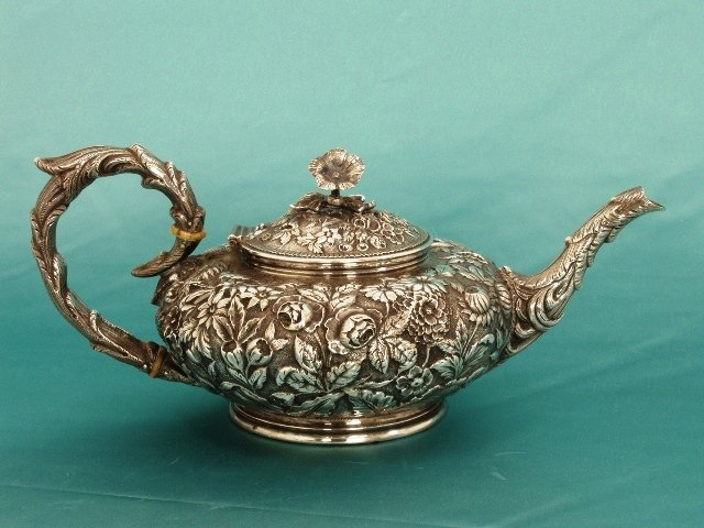 S. Kirk Victorian silver teapot