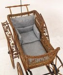 Wakefield wicker baby buggy