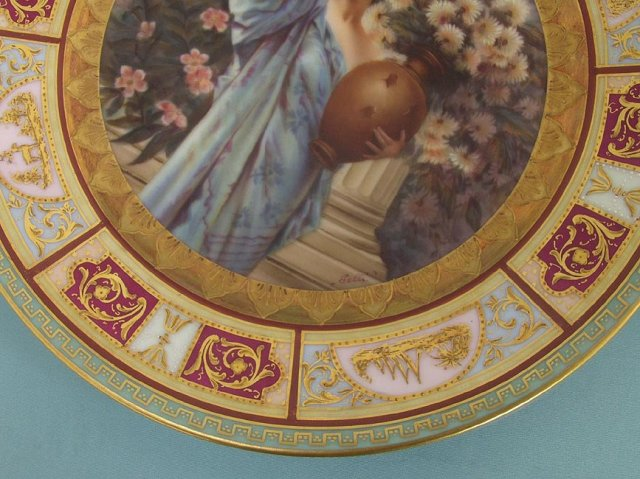 Rudelstadt Chrysanthemum portrait plate