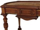 Renaissance Revival walnut inset marble table