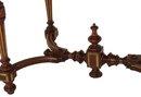 Renaissance Revival walnut inset marble table