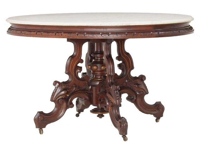 Massive walnut table by Thomas Brooks