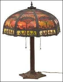 Octagonal Shade Lamp