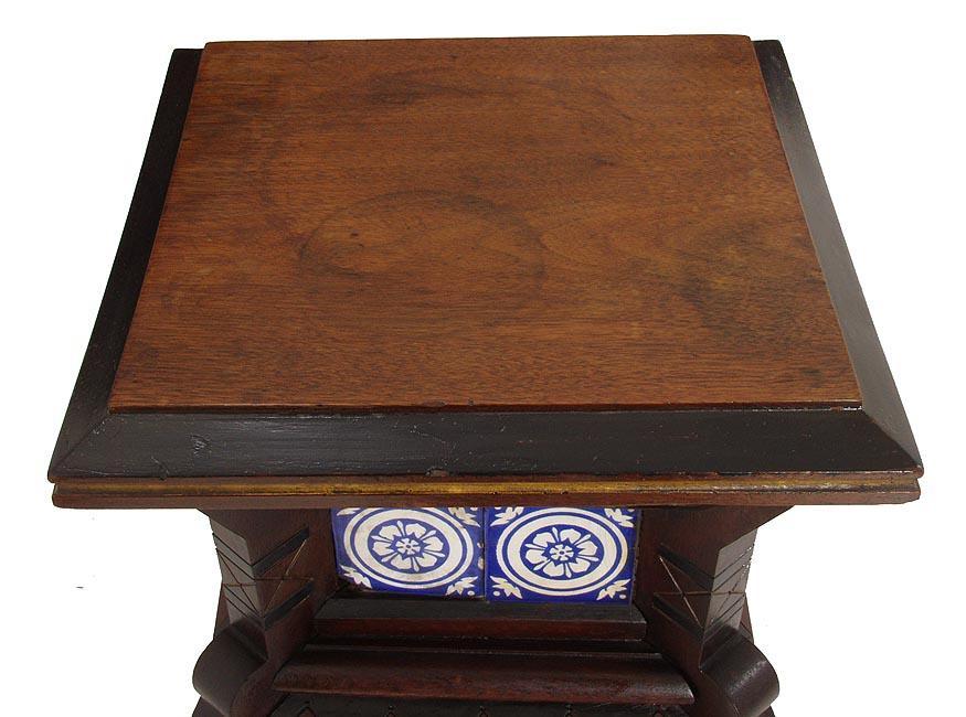 Gothic Walnut Pedestal