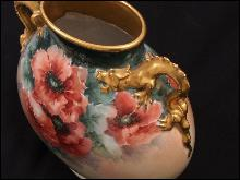 Limoge Dragon handled vase