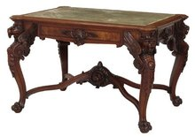 Gustave Herter Walnut Center Table
