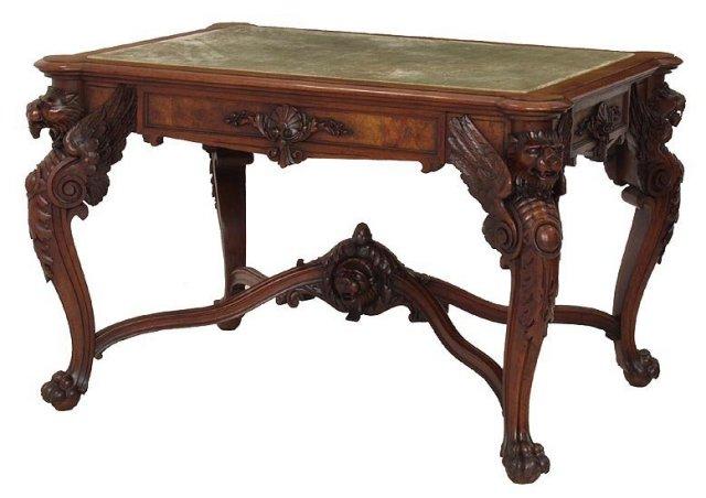 Gustave Herter Walnut Center Table