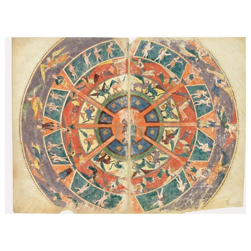 Folder of 5 prints from the Girona Beatus