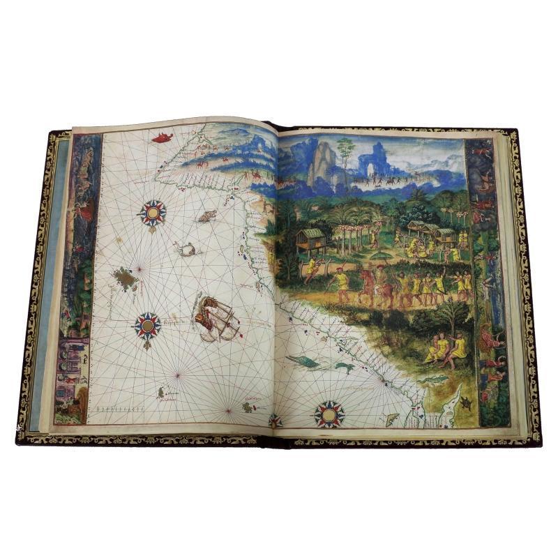 Atlas Vallard , unique facsimile limited edition maps