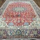 Vintage Handmade Very Fine Isfahan Navy Wool Oriental Rug 8' x 12'