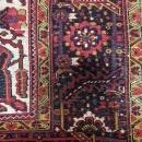 Vintage Handmade Heriz Red Wool Oriental Rug 8'9 x 11'11