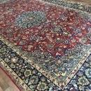 Vintage Handmade Very Fine Isfahan Blue Wool Oriental Rug 7' x 12'5