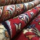 Vintage Handmade Very Fine Kashan Black Wool Oriental Rug 8'2 x 12'1