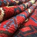 Vintage Handmade Heriz Red Wool Oriental Rug 6'10 x 9'5